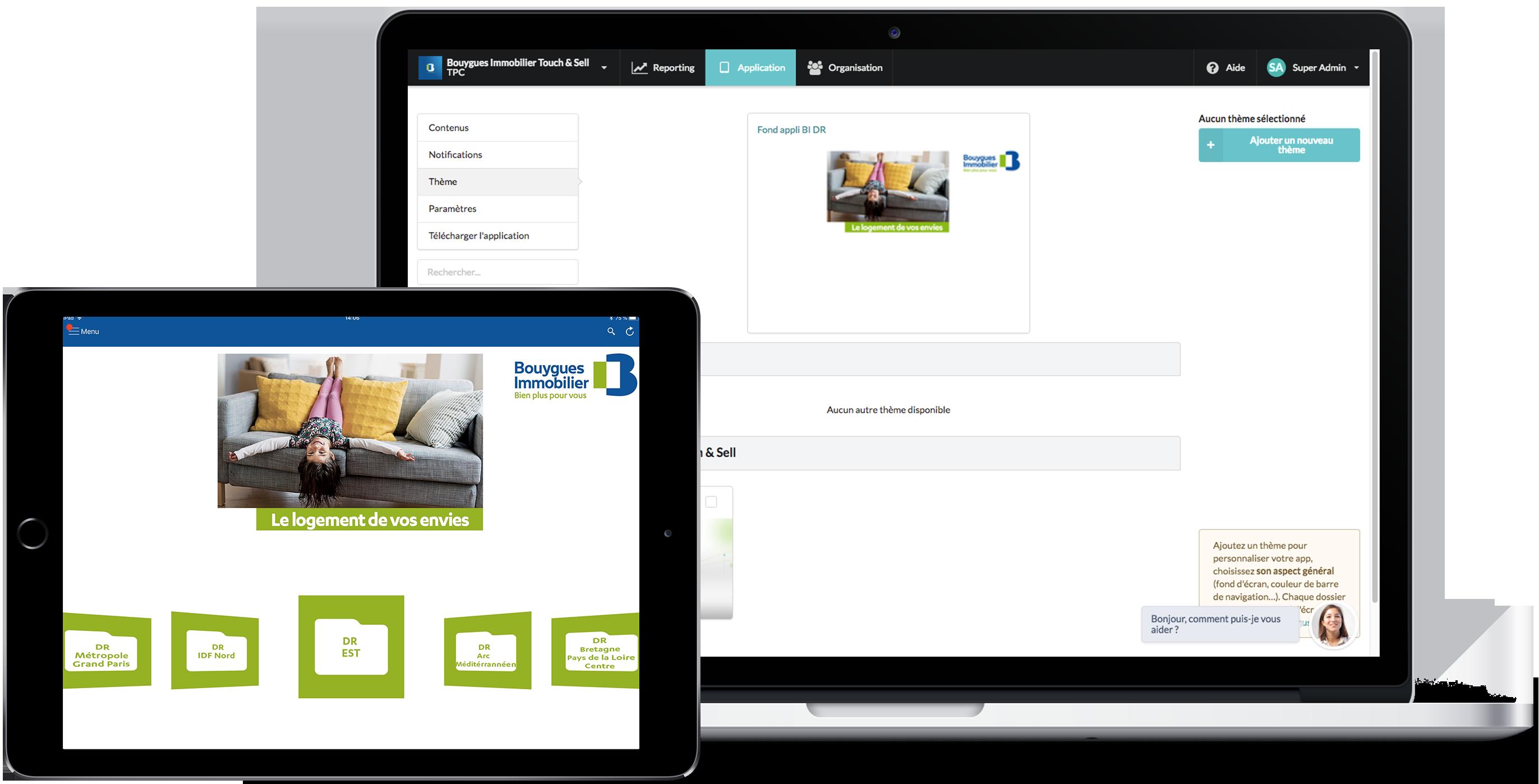 Application de présentation commerciale - Bouygues Immobilier